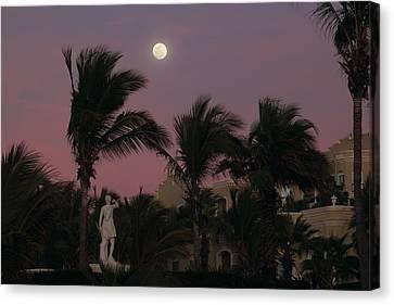Moonlit Resort Canvas Print by Shane Bechler
