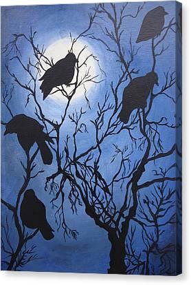 Moonlit Roost Canvas Print