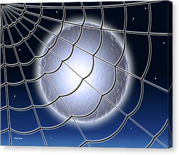 Moonlit Web Canvas Print by Stephen Younts