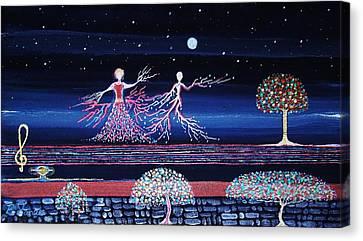 Moonlove Dance Canvas Print by Farshad Sanaee The Apple