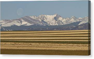 Moons Set On The Colorado Plains Canvas Print by James BO  Insogna