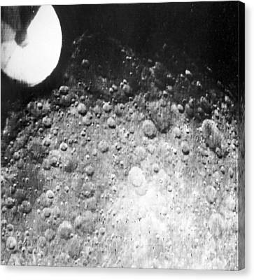 Moon's Surface, Zond 3 Image Canvas Print by Ria Novosti
