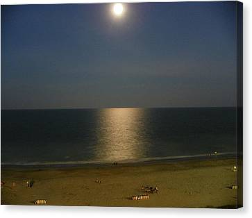 Canvas Print featuring the photograph Moonscape by Chad and Stacey Hall