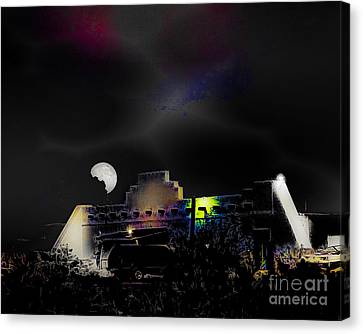 Moonset - Wild Horse Saloon Canvas Print by Arne Hansen