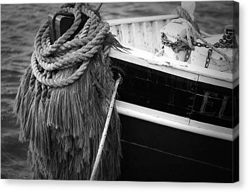 Moored Canvas Print by Eric Gendron