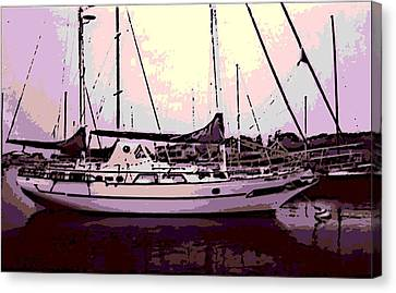 Moored Canvas Print by George Pedro