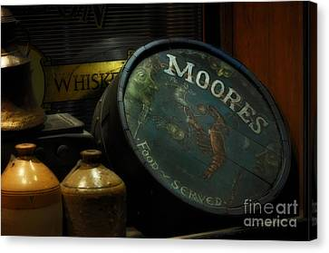 Moore's Tavern After Closing Canvas Print by Mary Machare