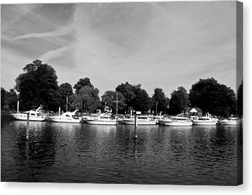 Canvas Print featuring the photograph Mooring Line by Maj Seda