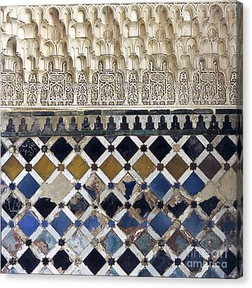 Moorish Wall Mosaic Canvas Print by Heiko Koehrer-Wagner