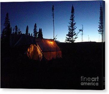 Moose Camp At Sunset Canvas Print