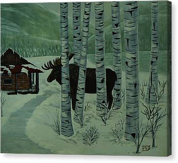 Moose Lake Canvas Print by Barbara St Jean