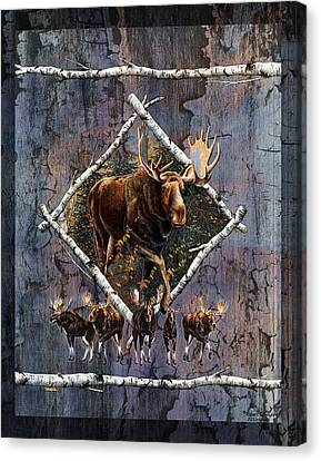 Bull Moose Canvas Print - Moose Lodge by JQ Licensing