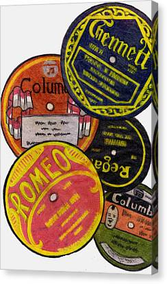 Disc Canvas Print - More Old Record Labels  by Mel Thompson