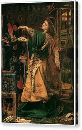 Morgan-le-fay Canvas Print by Frederick Sandys