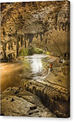 Moria Gate Arch And Oparara River Canvas Print by Colin Monteath