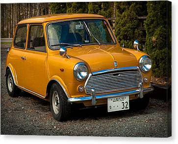 Moris Mini Cooper Canvas Print by Sebastian Musial