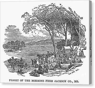 Mormon Flight, 1833 Canvas Print by Granger