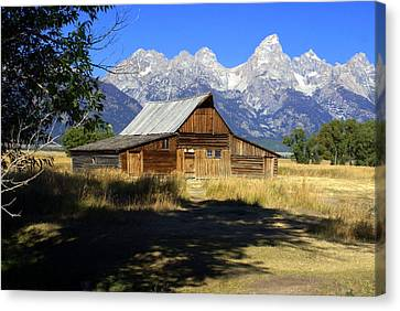 Canvas Print featuring the photograph Mormon Row Barn by Marty Koch