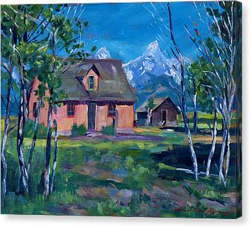 Mormon's Row Canvas Print by David Lloyd Glover