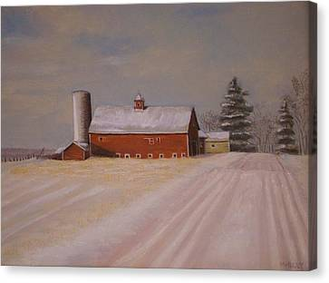 Morning After Heavy Snow Canvas Print by Mark Haley