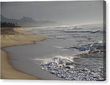 Morning Beach Canvas Print