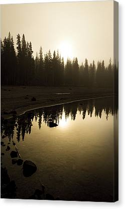 Canvas Print featuring the photograph Morning Calm by Randy Wood