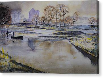 Canvas Print featuring the painting Morning Calm by Rob Hemphill