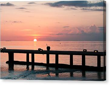 Canvas Print featuring the photograph Morning Calm by Shirley Mitchell
