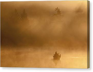 Morning Catch Canvas Print by Joseph Rossbach