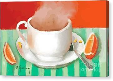 Morning Coffee Canvas Print by Dessie Durham