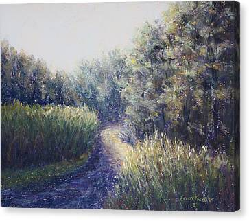 Morning Drive Canvas Print by Erica Keener