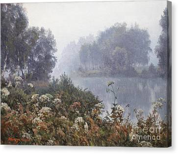 Morning Fog Canvas Print by Andrey Soldatenko