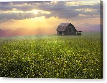 Smokey Mountains Canvas Print - Morning Has Broken by Debra and Dave Vanderlaan