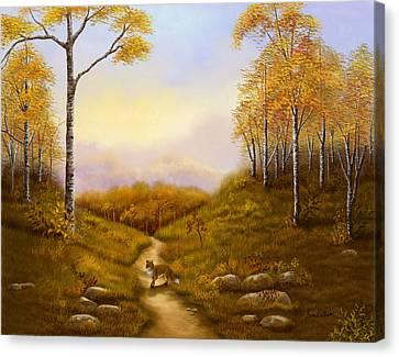 Morning Hunt Canvas Print by Sena Wilson