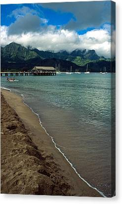 Morning In Hanalei Bay Canvas Print by Kathy Yates