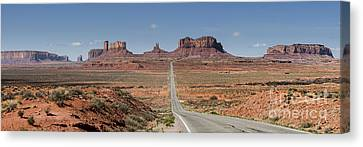 Morning In Monument Valley Canvas Print by Sandra Bronstein