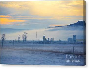 Morning Landscape In Winter Canvas Print by Gabriela Insuratelu