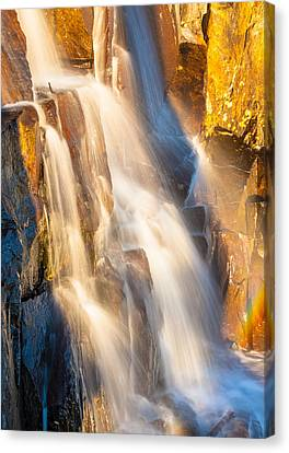 Morning Light On Lower Falls Canvas Print by Marc Crumpler