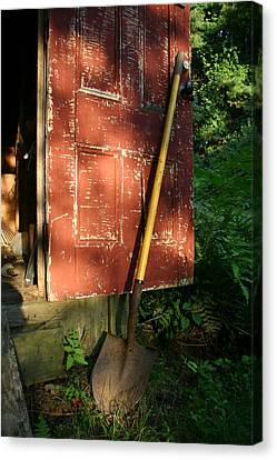 Morning Light On The Door Of An Old Canvas Print by Stephen St. John