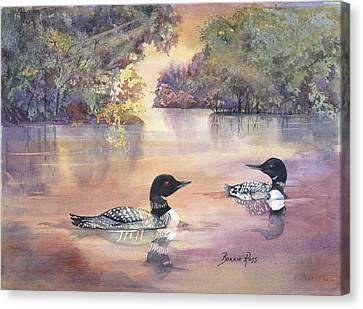 Morning Loons Canvas Print
