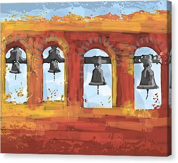 Morning Mission Bells Canvas Print