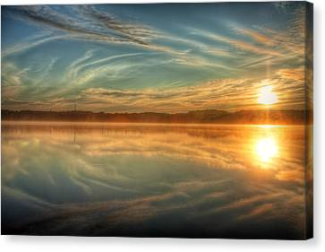 Morning Mist Canvas Print by Gary Smith