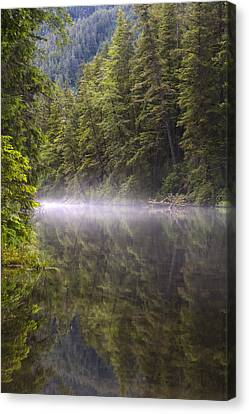 Prints Of Alaska Canvas Print - Morning Mist by Tim Grams