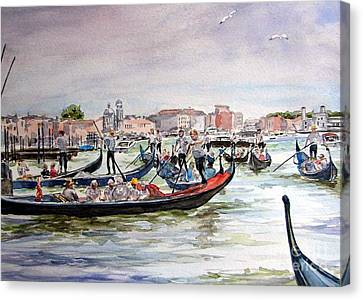 Morning On Grand Canal Canvas Print by Ronald Tseng