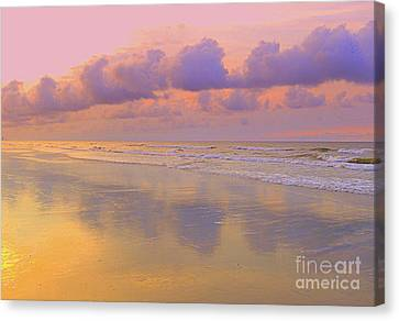 Canvas Print featuring the photograph Morning On The Beach  by Lydia Holly