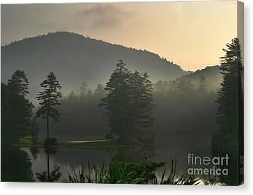 Morning On The Lake Canvas Print by Matt Tilghman