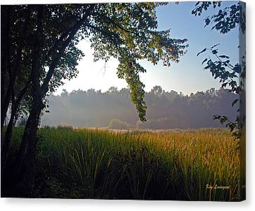 Canvas Print featuring the photograph Morning On The River by Kay Lovingood