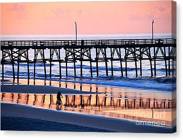 Morning Reflection Canvas Print by Bob and Nancy Kendrick