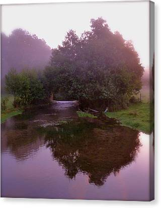 Morning Reflection Canvas Print by Karen Grist