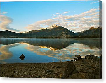 Morning Reflections Canvas Print by Bob Berwyn